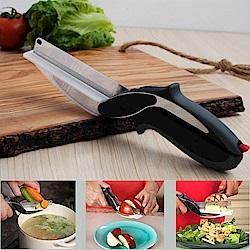 新一代刀具+砧板  2合1砧板剪刀