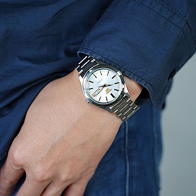 SEIKO 精工五號 5號盾牌日曆機械錶(SNKM43J1/7S26-03W0G)