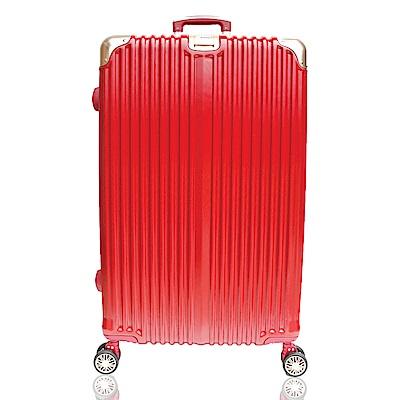 YC Eason 星光二代20吋海關鎖款PC行李箱 混色紅金