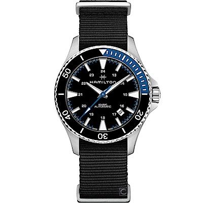 (無卡分期6期)Hamilton Khaki  碧海追蹤100米機械錶(H82315931)