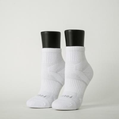 Footer除臭襪-輕壓力單色足弓襪-六雙入(白*2+綠*2+灰*2)