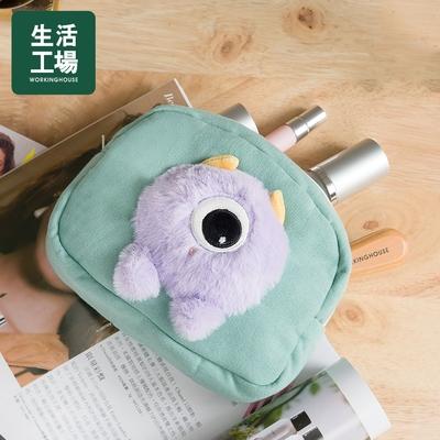 【百貨週年慶 全館5折起-生活工場】SPACE星際萌怪化妝包-紫寶
