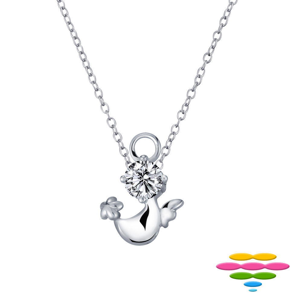 彩糖鑽工坊 30分 G/VS 18K 小天使鑽石項鍊 (K白款)