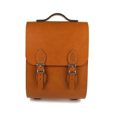 The Leather Satchel 英國手工牛皮溫莎小後揹包 手提包 倫敦棕
