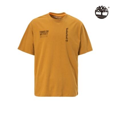 Timberland 男款小麥黃休閒寬鬆圓領T恤|A28NN