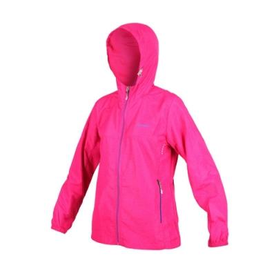 SOFO 女風衣外套-防風 連帽外套 慢跑 路跑 桃紅藍