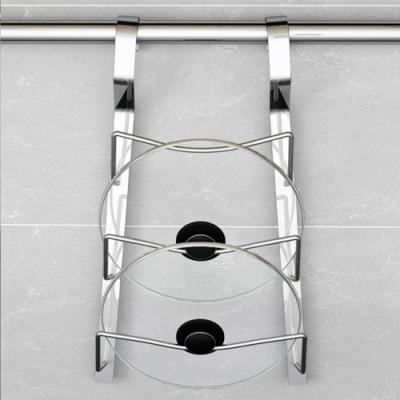百轉空間 拉絲紋不鏽鋼三層鍋蓋置物架(1入)