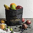 收納職人 原創北歐復古燙金水洗收納裝飾牛皮紙袋_黑色