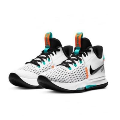 NIKE 籃球鞋 LBJ 包覆 緩震 運動鞋 男鞋 白綠黑 CQ9381100 LeBron Witness V