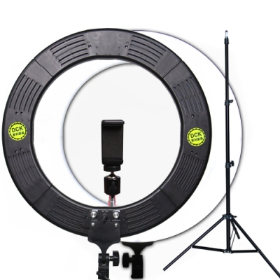 YADATEK 14吋可調色溫可調光超薄LED環形攝影燈(YR-600A)送180cm燈架