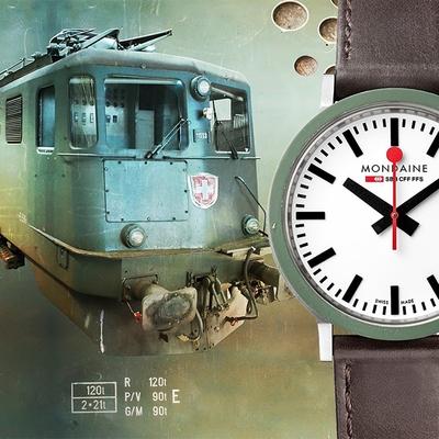 MONDAINE 瑞士國鐵 Stop2go Gottardo 聖哥達隧道工程紀念錶