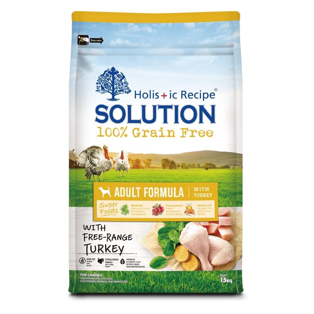 耐吉斯 超級無穀系列-美國放養火雞肉配方成犬飼料1.5kg
