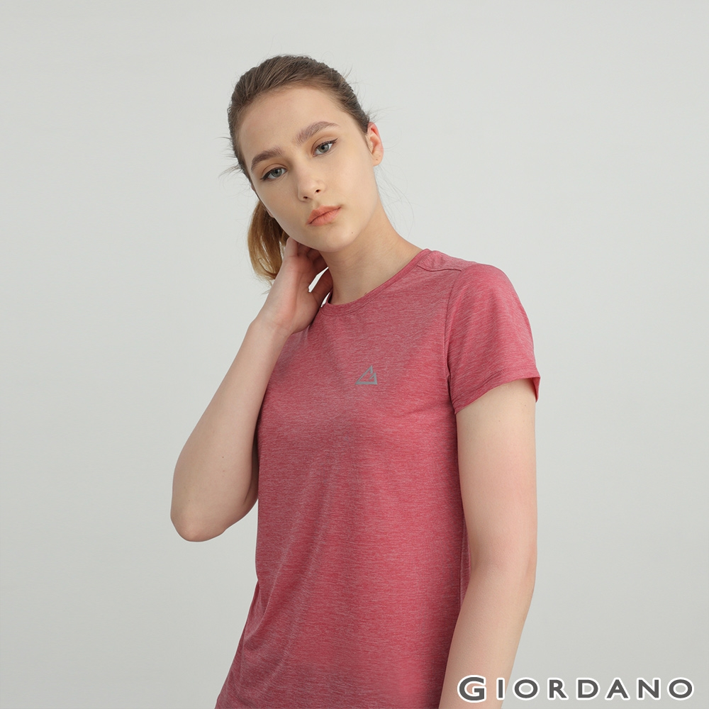 GIORDANO 女裝G-MOTION超輕涼感T恤 - 61 仿段彩淺紫紅