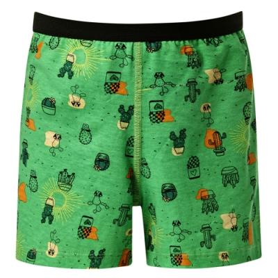 DADADO-仙人掌 110-130 男童內褲(綠)