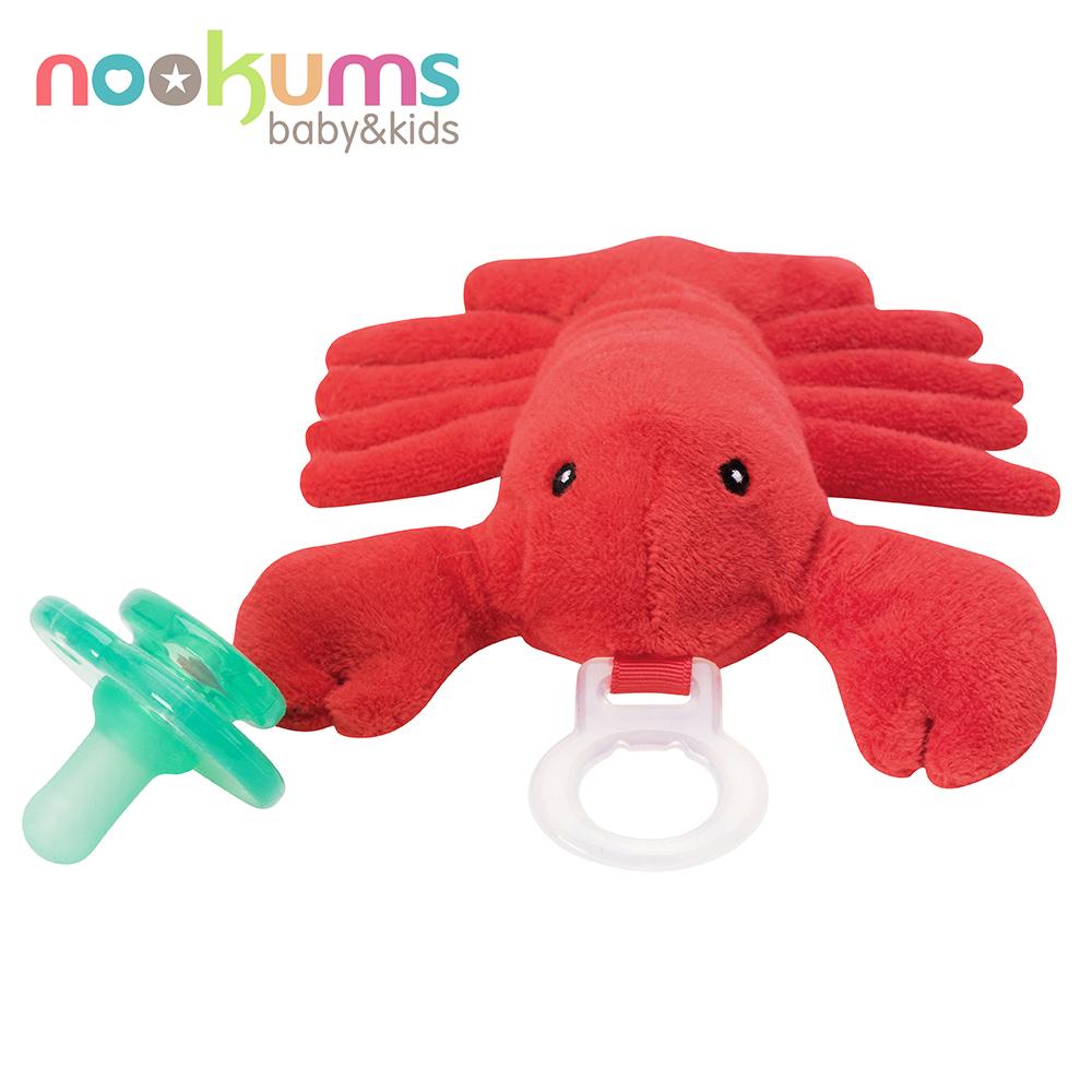美國nookums 寶寶可愛造型安撫奶嘴/玩偶-龍蝦哥