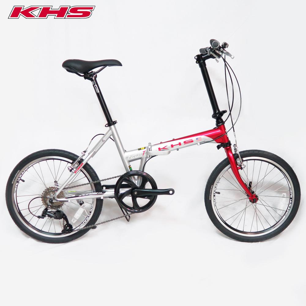 KHS功學社 2019 F20-T日規20吋8速鉻鉬鋼折疊單車-亮紅/銀