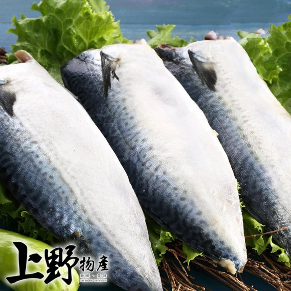 (滿899免運)【上野物產】宜蘭特選薄鹽鯖魚片 x1片(110g土10%/片)
