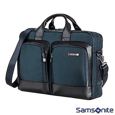 Samsonite新秀麗 Sefton商務筆電公事包M 14 (海軍藍)