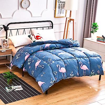 A-one - 可水洗-單人床包/雙人羽絲絨被三件組_佛朗明哥