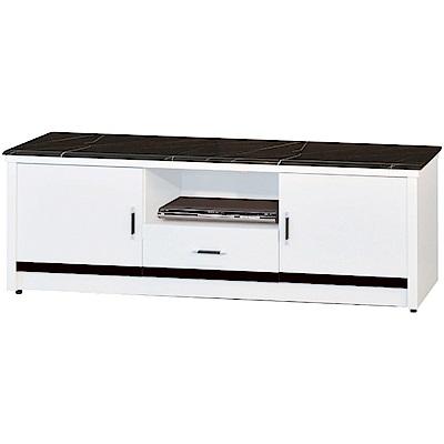 綠活居尼特利時尚5尺雲紋黑石面電視櫃視聽櫃-151x41x56cm免組