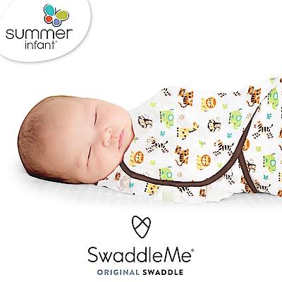 美國 Summer infant - 可調式懶人包巾-大號(純棉薄款- 動物園)