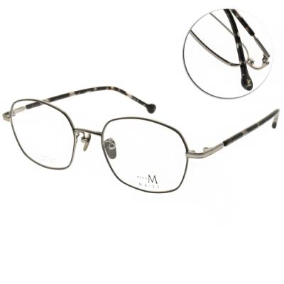 MA-JI MASATOMO 光學眼鏡 圓框款/灰-槍 #PMJ051 C3