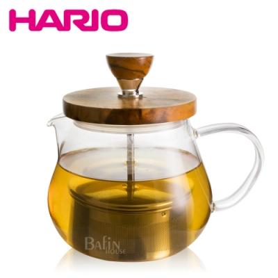 HARIO 橄欖木濾壓茶壺450ml(TEO-45-OV)