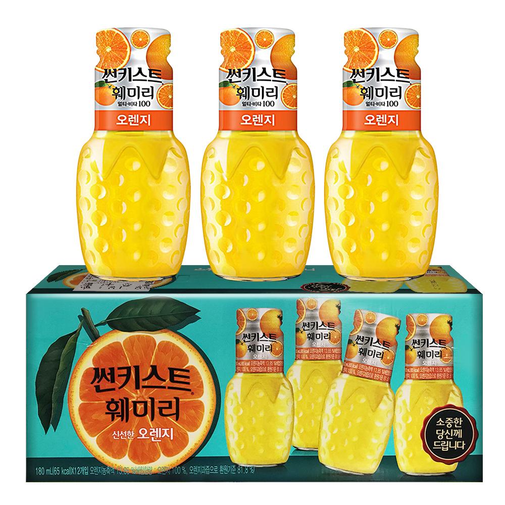 Sunkist香吉士 柳橙汁(180mlx12瓶)