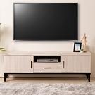 D&T 德泰傢俱 Amanda 白橡簡約生活5尺電視櫃-150x40x49cm