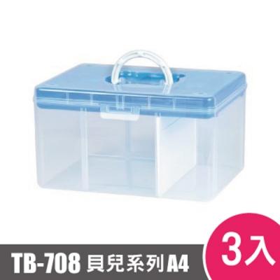 樹德SHUTER FUN貝兒手提箱(A4)TB-708 3入