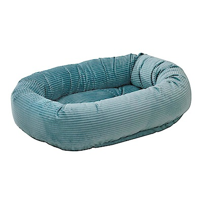BOWSERS甜甜圈極適寵物床-水藍燈芯絨XS