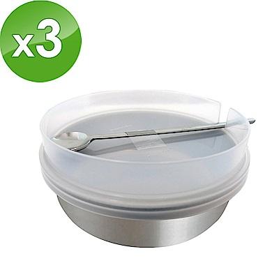 日本ECHO 不鏽鋼調味料罐(附蓋+杓) 3入組(快)