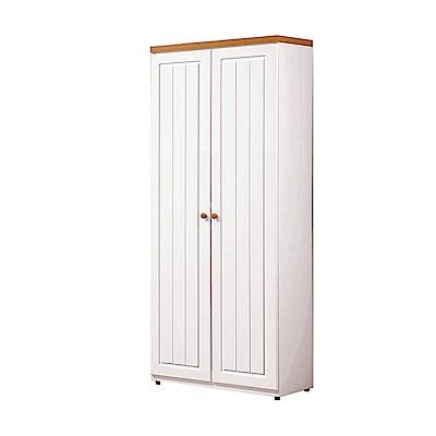 H&D 頌伊白色2.5尺鞋櫃
