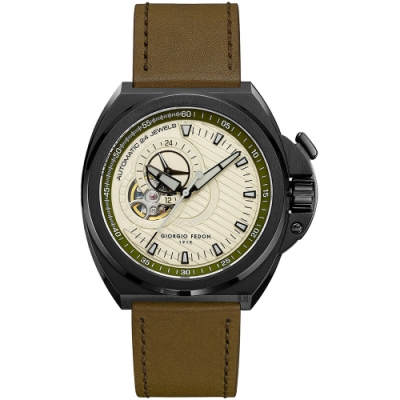 GIORGIO FEDON 1919天行者鏤空機械錶-45mm
