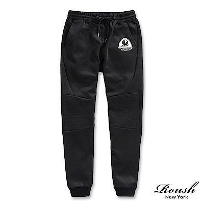 Roush 特殊雙膝車線彈力棉質長褲(2色)