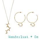 [時尚套組] Wanderlust + Co星月金星耳環項鍊組
