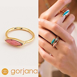 GORJANA 嫩粉紅玉石戒指 金色寶石戒指 小版 Palisades