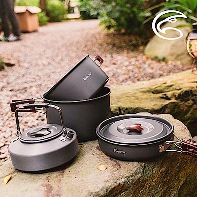 【ADISI】 雙柄鋁套鍋組AC565008|4~5人適用(鎖式手柄、戶外露營、炊煮)