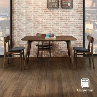 漢妮Hampton米契系列實木餐桌椅組(1桌4椅)-140*80*76 cm