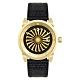 ZINVO 時尚皮革渦輪機械腕錶-黑X金(B12K)/44mm product thumbnail 1