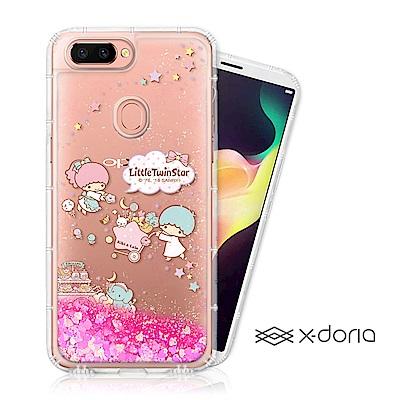 三麗鷗雙子星 OPPO R15 亮片流沙手機軟殼 - 甜點樂園