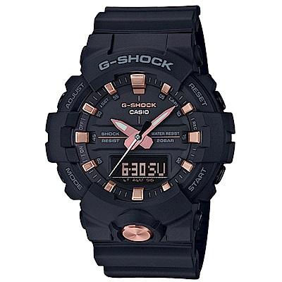 G-SHOCK 卡西歐 搶眼金點 雙顯運動錶(GA-810B-1A4)-黑/48.6mm