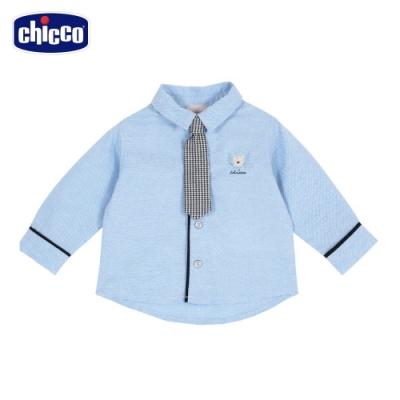 chicco-小熊學校-附領帶牛津長袖襯衫