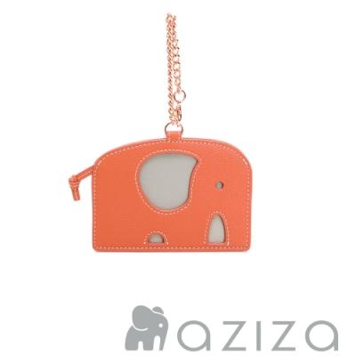 aziza 小象造型票卡夾 珊瑚紅