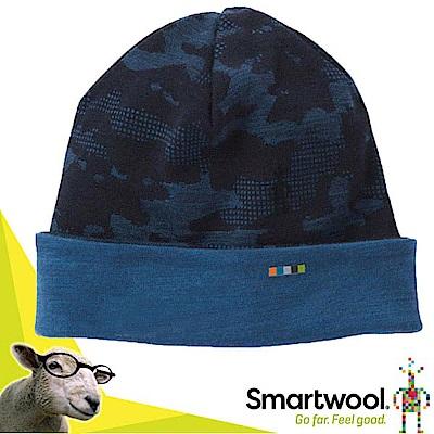 美國 SmartWool 輕量 Mid 250 雙面載控溫美麗諾羊毛帽_深藍/亮藍