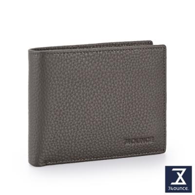 74盎司 Lithe 真皮橫式短夾(零錢袋)[N-603-Lit-M]灰