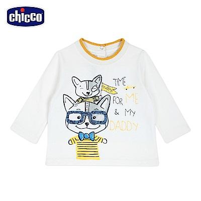 chicco-童趣車系列-長袖上衣-米(12-24個月)