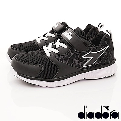 DIADORA 3E避震Q彈跑鞋款 SI390黑(中大童段)