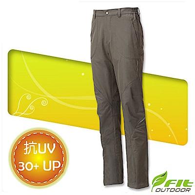 FIT 男新款 彈性吸排抗UV長褲_ FS1807 橄欖綠