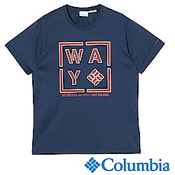 Columbia 哥倫比亞 男款-日版涼感快排防曬上衣-藍色UPM44630NY
